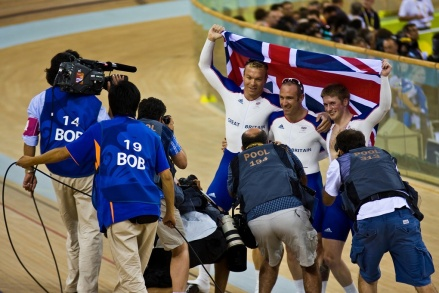 Team GB Sprint to Gold in the Beijing Olympics - Image ©Copyright Chas Pope